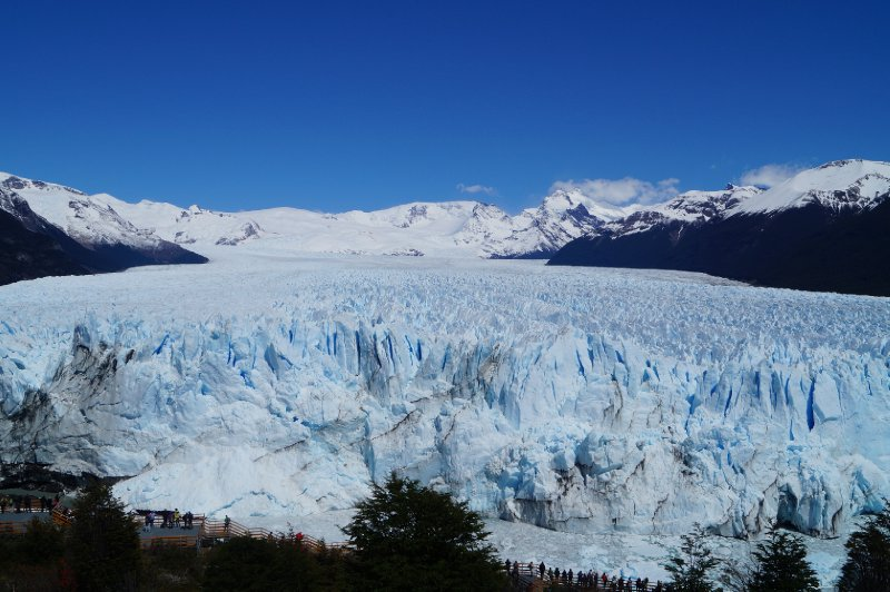The right side of the glacier
