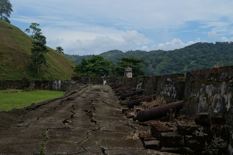The cannons protecting Portobelo