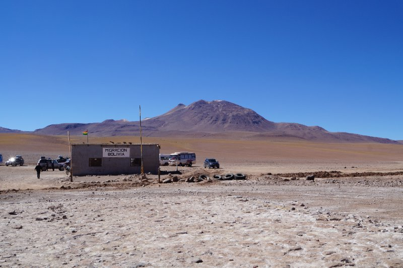 On the left, the road to Argentina, on the right, to Chile