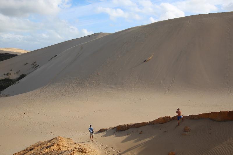 Sandboarding on the Te Paki sand dunes, really fun!