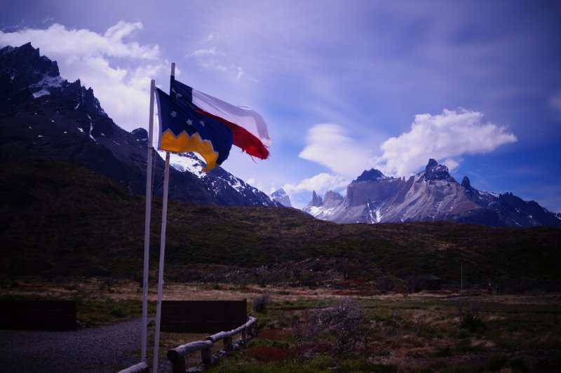 Chilean and Patagonian flags