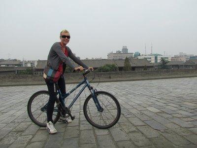 riding the Xian walls