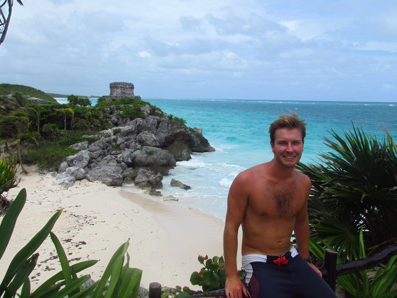 Christian at the tulum ruins