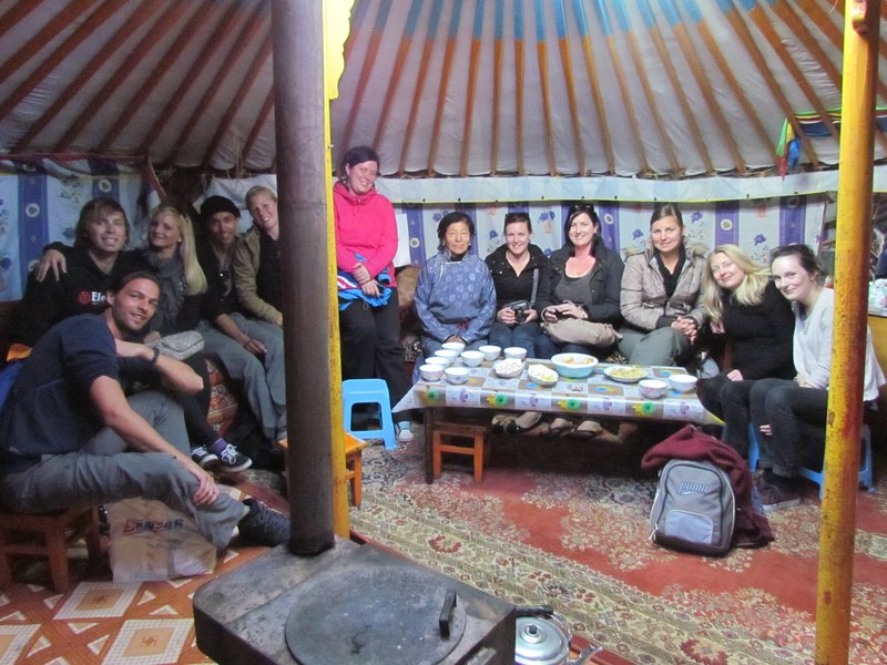 In the nomadic family tent