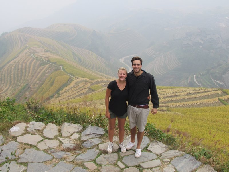 finished the hike in the rice terraces