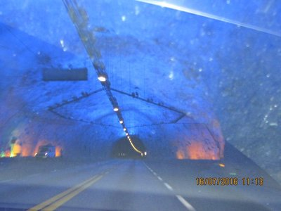 Lit in Bright Blue colour inside the tunnel