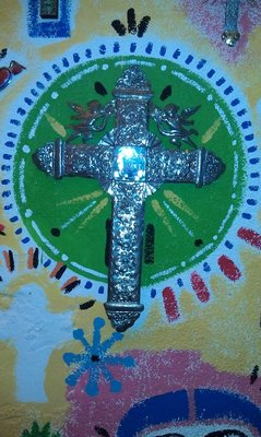 Cross from Mexican place