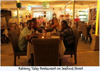 Dinner at Rabieng Talay Restaurant