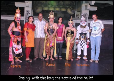 With the Ramayana Ballet performers