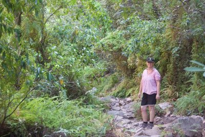 Sue trekking into Emma Gorge