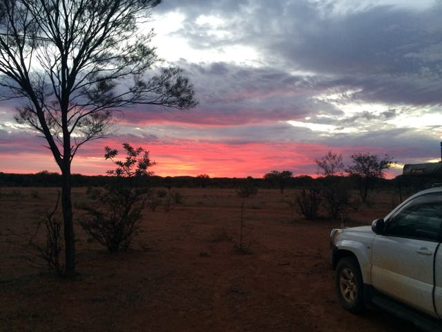 Think this is sunset at Mt Doreen along the Tanami ......