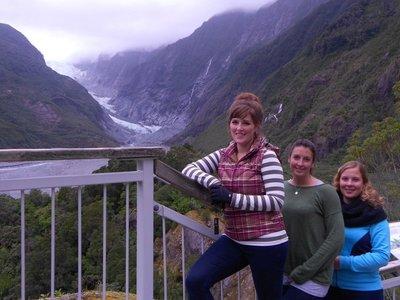 Megan, Deborah and I at the Franz Josef glacier