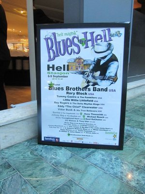 POSTER FOR THE HELL BLUES FESTIVAL