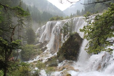 Waterfall in Jiuzhaigou National Park