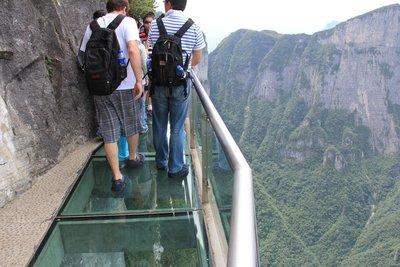 The Glass Skywalk on Tianmen Mountain