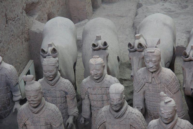 Terra Cotta Warriors - a closeup