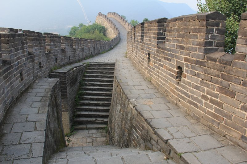 Steps to the Defenders side of the Great Wall