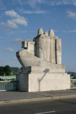 Statue on bridge over the Seine