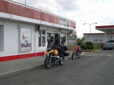Fuel stop at Beroun