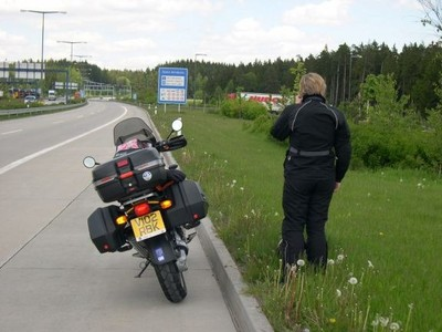 Claire at Czech Border - Rozvadov