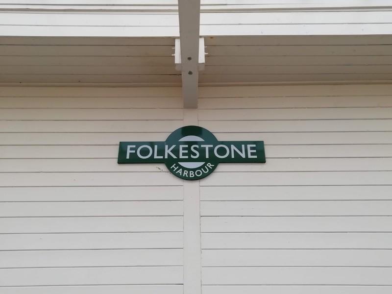 Folkestone Harbour Station Sign