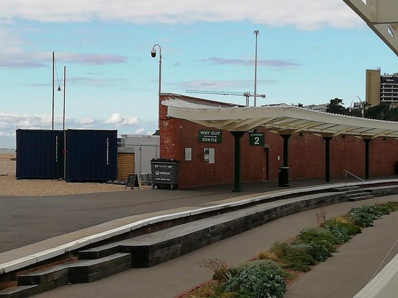 Folkestone Harbour Station the sea end of Platform 2