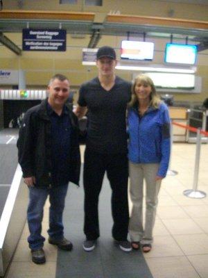 Todd, Ladi Smed and Linda; Edmonton Airport