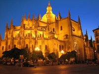 Cathedral at night, Segovia