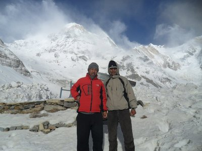 Shyam Shahi at Annapurna base camp trekking