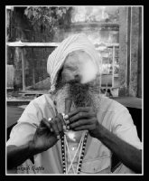 Sadhu Smoking