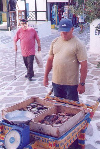 Fish monger at Anti-Paros