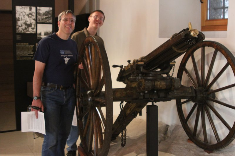 WWI Cannon - Rovereto Castle War Museum