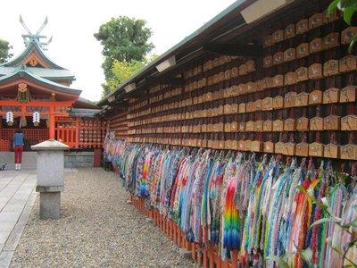 e-ma and paper cranes at fushimi