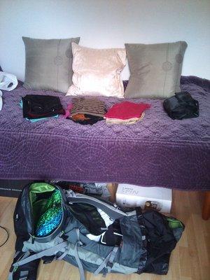Min packning för 4 månader, känns lite lite...