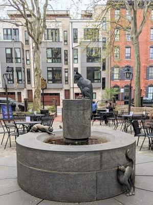 The Fountain in Courtyard