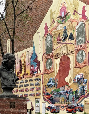Franklin Wall Mural