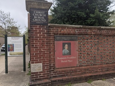 Christ Church Cemetery Where Franklin Lies