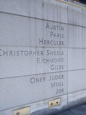 Names of Washington's Slaves in Philadelphia