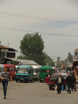 Bus Stop at the Bazaar