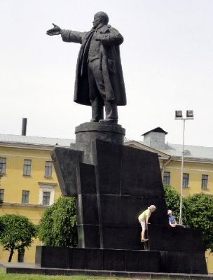 Boys Climbing on Lenin