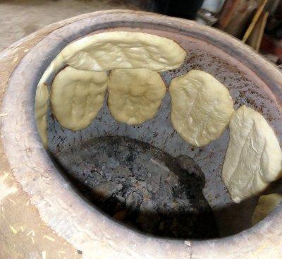 Bread on Tandoori Walls