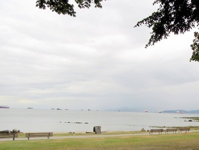 English Bay Beach on a Rainy Day