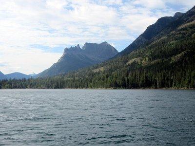 On The International on Waterton Lake