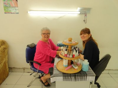 Paula at the Nail Salon