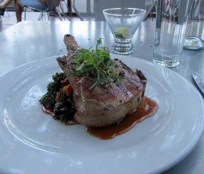 Pork Chop and Gimlet at The Kitchen
