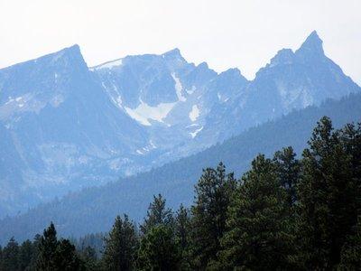 Smoke and Snow on the Mountains