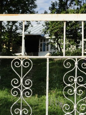View of Homestay through the Gate 5-22-2013 9-25-51 PM