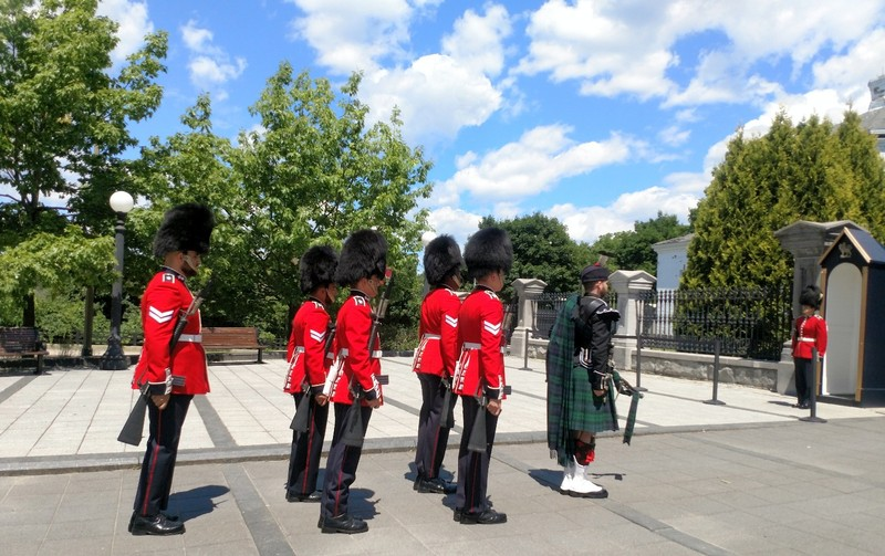 Changing of the Guards at the Governor General's Mansion