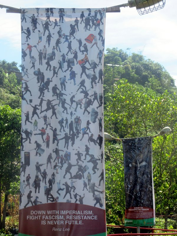 Banners in the Garden
