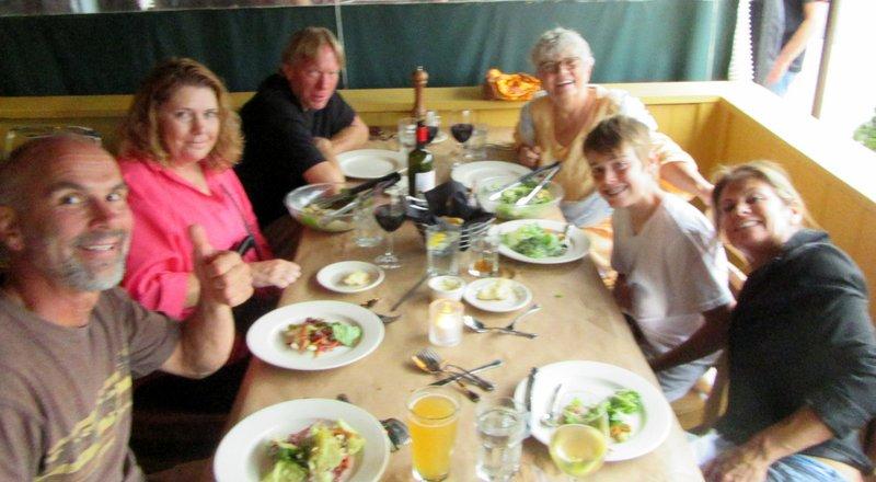 Family Goodbye Dinner at Carmine's